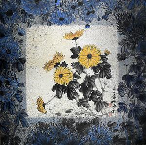 窗上的菊花