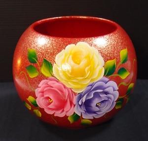 玫瑰花聚寶盆