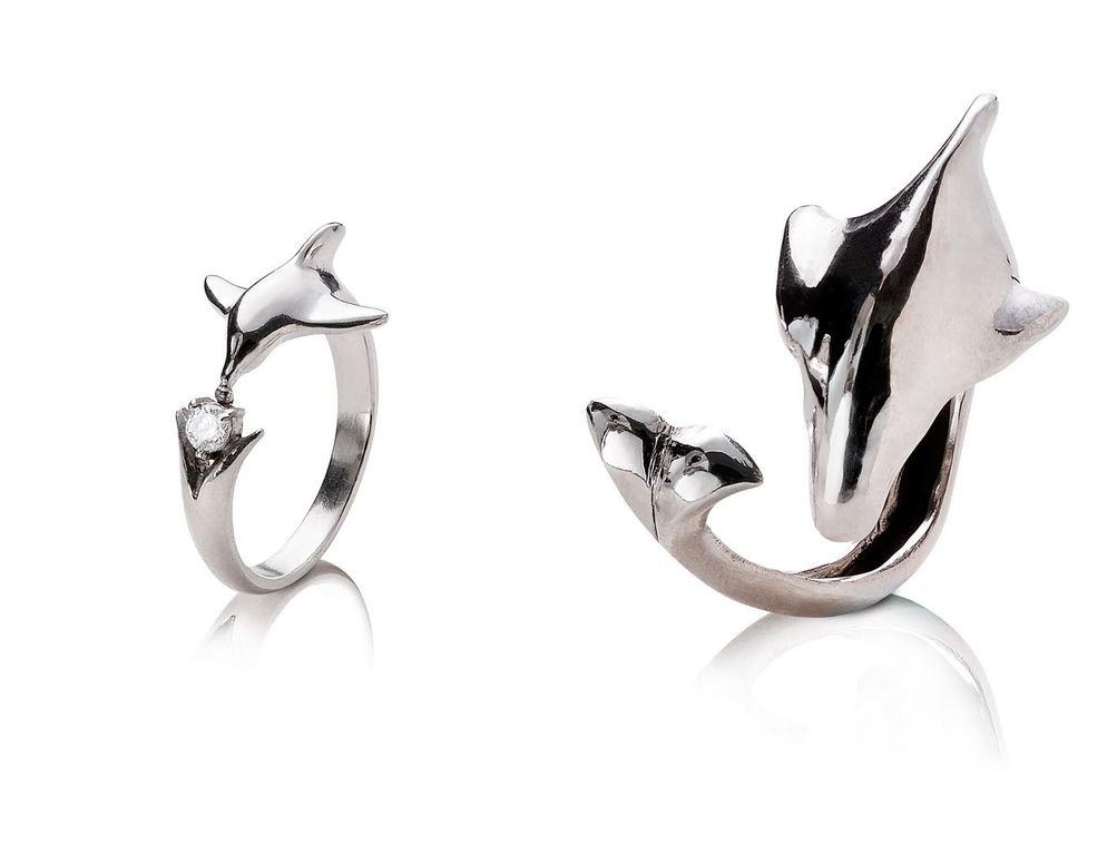 海豚吻鑽戒(男女)