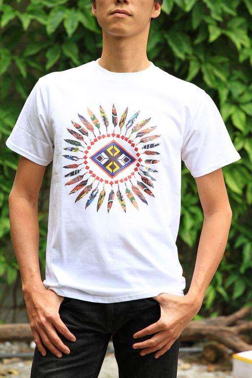 圖騰羽毛T-shirt