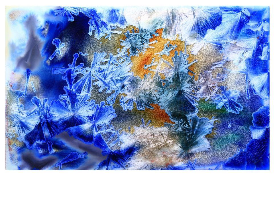 結晶釉瓷版畫