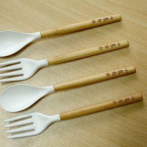 稻稈餐具組