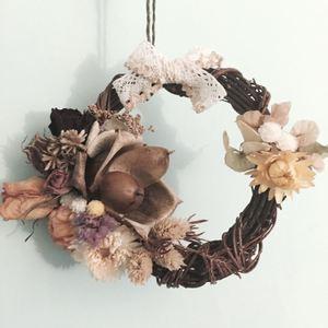 木玫瑰花圈-盛夏艷陽