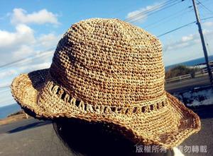 香蕉絲作品-編織帽