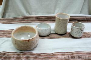 志野茶碗茶杯